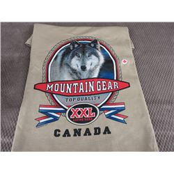 New Wolf T-Shirt Brown XXL Made In Canada