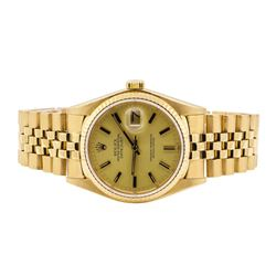 Rolex Oyster Perpetual Datejust Wrist Watch - 18KT Yellow Gold
