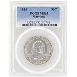 1934 Maryland Tercentenary Commemorative Half Dollar Coin PCGS MS65