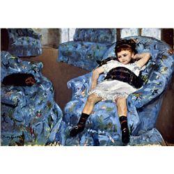 Mary Cassatt - Small Girl In The Blue Armchair