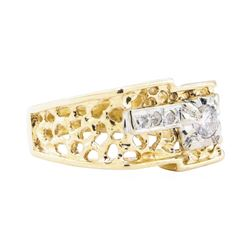 0.32 ctw Diamond Ring - 14KT Yellow And White Gold