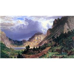 Storm in the Rockies, Mt. Rosalie by Albert Bierstadt