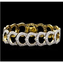 5.11 ctw Diamond Bracelet - 18KT Yellow Gold