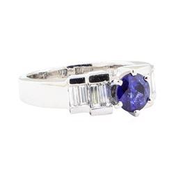 1.50 ctw Sapphire And Diamond Ring - Platinum