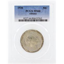 1936 Albany New York Commemorative Half Dollar Coin PCGS MS66