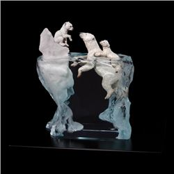 "Kitty Cantrell, ""A Mother's Calling"" Limited Edition Mixed Media Lucite Sculptur"