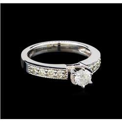 14KT White Gold 0.69 ctw Diamond Ring