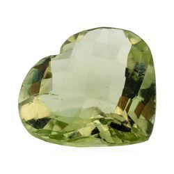 10.85 ct. Natural Heart Shape Cut Green Quartz