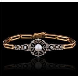 14KT Two-Tone Gold 0.26 ctw Diamond Bracelet
