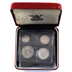 Great Britian 1953 4-coin Maundy Money Set, in original Display Case! Low Mintage Year! Coins are ch