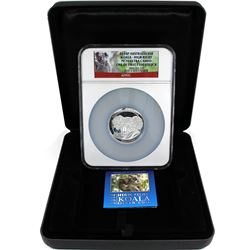 Perth Mint Issue: 2014P Australia Silver 5oz Concave Koala High Relief NGC PF-70 Ultra Cameo One of