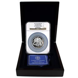Pobjoy Mint Issue: 2013 Isle of Man 5oz Silver High Relief Angel NGC PF-70 Ultra Cameo Inside Deluxe