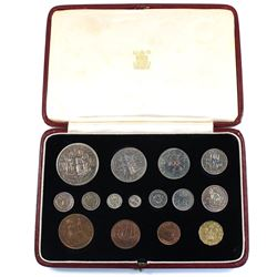 Royal Mint Issue: 1937 Great Britain 15-coin Specimen Set in Original Royal Mint Case. The Silver co
