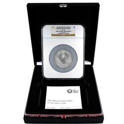 Royal Mint Issue: 2012 Great Britain 5oz Silver 10 Pound London 2012 Olympics NGC PF-70. One of the
