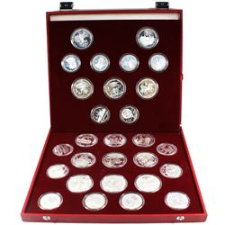 Russia 1980 Moscow Olympics 28-coin Silver Proof coins in set with original box. This set includes 1