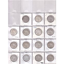 Estate Lot of 99x Canadian 50-cent 1871-2019. Includes 1911,1914,1947ML and lots more! Worth Premium