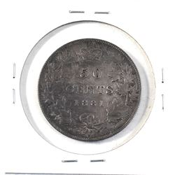 50-cent 1881-H in VF condition. Coin has some medium deep grey tones throughout, but over all great