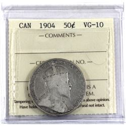 50-cent 1904 ICCS Certified VG-10.