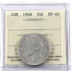 50-cent 1948 ICCS Certified EF-40