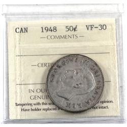 50-cent 1948 ICCS Certified VF-30.