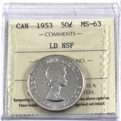50-cent 1953 LD NSF ICCS Certified MS-63