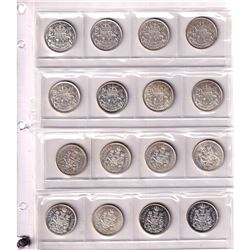 Estate Lot: Collection of 64x 50-cent 1953-2013 in Grandmaster album. 17x Silver coins average grade