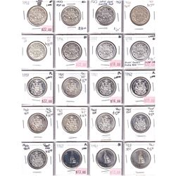 Estate Lot: Collection of 80x 50-cent 1953-2020 24x Silver Issues! Near Complete Collection with Sil