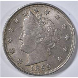 1899 LIBERTY NICKEL, AU
