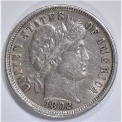1892 BARBER DIME, AU