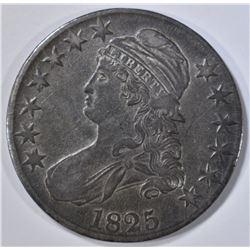 1825 BUST HALF DOLLAR, XF