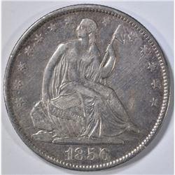 1856-O SEATED LIBERTY HALF, XF MARKS