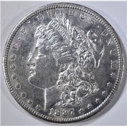 1887-S MORGAN DOLLAR, AU