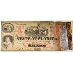 1864 $1 STATE OF FLORIDA, DAMAGE