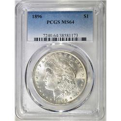 1896 MORGAN DOLLAR, PCGS MS-64