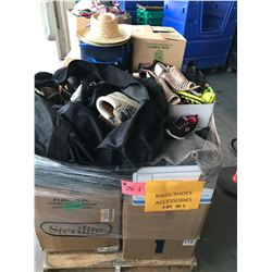 Contents of Pallet: Bags, Shoes, Accessories
