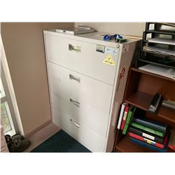 GREY 4 DRW. LATERAL FILE CABINET