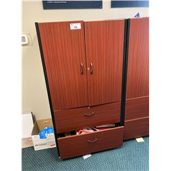 MAHOGANY 2 DRW. LATERAL FILE WITH HUTCH