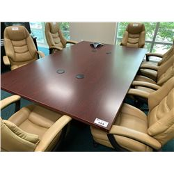MAHOGANY 4' X 8' BOARDROOM TABLE