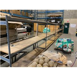 5 SECTIONS OF 6' TALL EZ-RECT STORAGE RACKING INCLUDES: 6 UPRIGHTS AND 30 X 8' LONG CROSSBARS