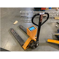 ULINE 5000 LB CAPACITY PALLET JACK WITH BUILT IN SCALE