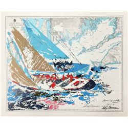 """Leroy Neiman """"Americas Cup 19th Challenge"""""""