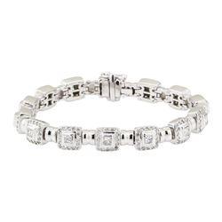 4.20 ctw Diamond Bracelet - 18KT White Gold