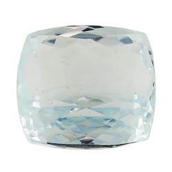 6.45 ct.Natural Rectangle Cushion Cut Aquamarine