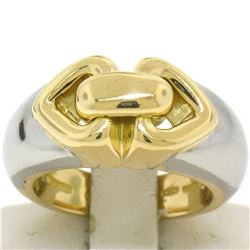 Bulgari 18kt Yellow and White Gold Dual Open Heart Ring