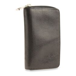 Louis Vuitton Black Zippy Vertical Coin Taïga Wallet