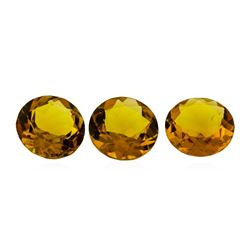 14.32 ctw.Natural Round Cut Citrine Quartz Parcel of Three