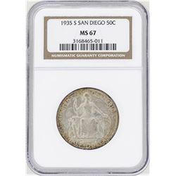 1935-S San Diego Commemorative Half Dollar Coin NGC MS67