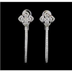 1.72 ctw Diamond Earrings - 14KT White Gold