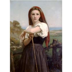 William Bouguereau - Young Shepherdess