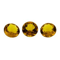 13.21 ctw.Natural Round Cut Citrine Quartz Parcel of Three
